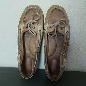 Sperry Angelfish Boat Shoe leather slip on 8.5